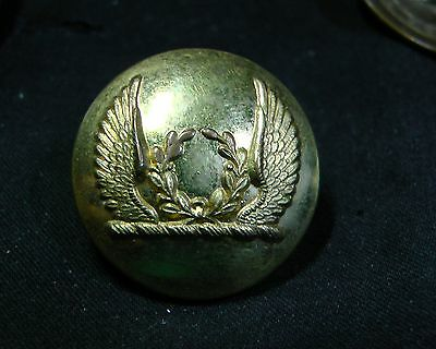 MYSTERY LIVERY BUTTON #4 WINGS with WREATH FIRMIN Patent 2346 circa 1885 Gilt