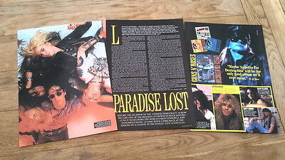GUNS N' ROSES 'paradise lost' 5  page UK ARTICLE / clipping 2004