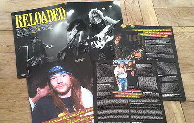 GUNS N' ROSES 'reloaded'10 page UK ARTICLE / clipping 2004