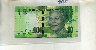 2012 South Africa Rhino Nelson Mandela 5 Consecutively Numbered Notes Cu 404F