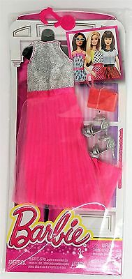 Mattel DNV27 Barbie Fashions Outfit and Accessories for Doll - SILVER PINK Dress