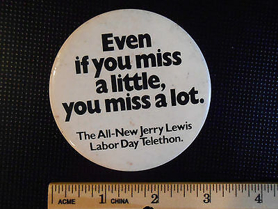 Pinback Jerry Lewis Labor Day Telethon