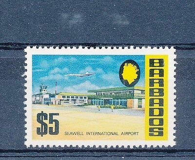 Barbados 1970 $5 Seawell Int Airport single value