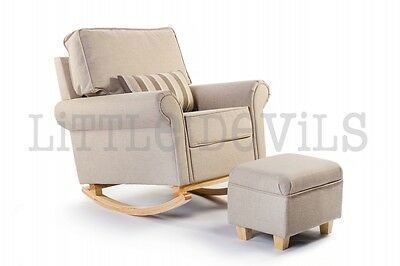 CREAM HUSH HUSH Rocking Chair *The Luxury Nursing/Glider/Gliding/Maternity Chair