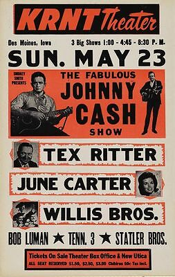 Johnny Cash concert  poster print  A4 Size