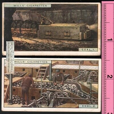 Coal Hauling and Screening - Two 85+ Y/O Ad Trade Cards