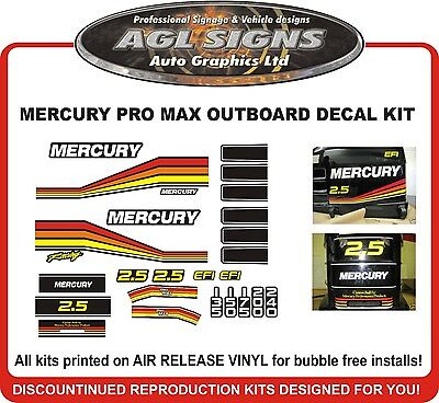 MERCURY Pro MAX Racing Decal Kit  reproductions  PROMAX