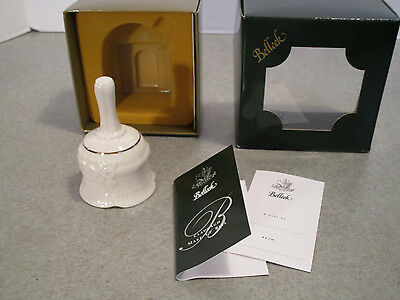 Belleek 2050 Claddagh Make-Up Bell  NEW with Box and inserts Gift Tag