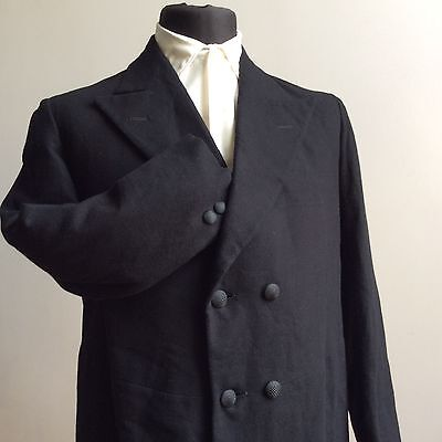 Stunning Rare Antique 1900-1910 Edwardian Double Breasted Frock Coat 36 (91Cm)