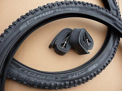 "Pair Schwalbe NOBBY NIC 27.5x2.35"" 650b Tyres MTB Offroad Mountain Bike"