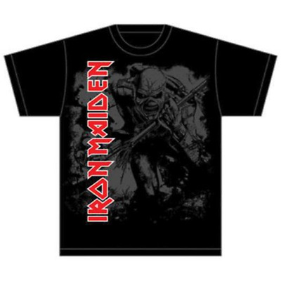 Iron Maiden - Hi Contrast Trooper (T-Shirt Unisex Tg. L)