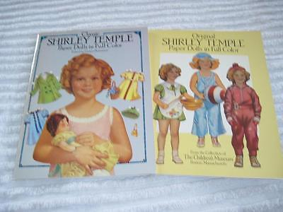 Two 1986 Shirley Temple Paper Dolls Books in Full Color UnCut