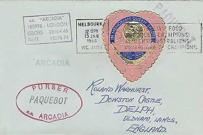 Tonga 4469 - Used in MELBOURNE, VICTORIA 1968  PAQUEBOT cover to UK