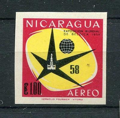 Nicaragua 1958 ESSAY   Imperf Color Proof. Brussel Fair Exposition Lot 2969