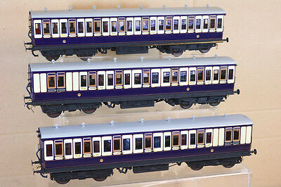 LAWRENCE SCALE MODELS O GAUGE KIT BUILT FURNESS RAILWAY FR RAKE of 3 COACH nk