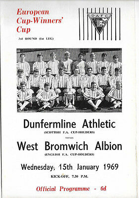 1968/69 European Cup Winners Cup - DUNFERMLINE ATHLETIC v. WEST BROMWICH ALBION