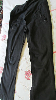 maternity jeans over the bump  black size 14  euro 40 h&m mama 4 pockets