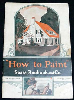 Sears Roebuck & Company How To Paint Advertising Brochure Guide 1932 Vintage