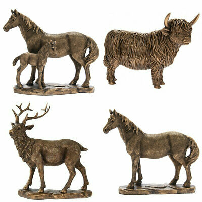 New Modern Bronze Effect Stag & Deer Garden Ornaments Stunning Garden Feature UK