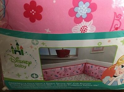 New Disney Baby Cinderella Once Upon A Dream Secure Me 4-piece Crib Bumper