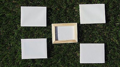 5 White Mini Blank Canvas Acrylic/oil Paint Plain Small Art Sketch Board