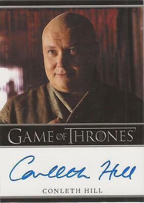 """Game of Thrones Season 1 - Conleth Hill """"Lord Varys"""" Auto / Autograph Card"""