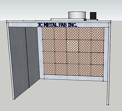 12ft WIDE OPEN FACE PAINT SPRAY BOOTH 1/2 OFF SHIPPING
