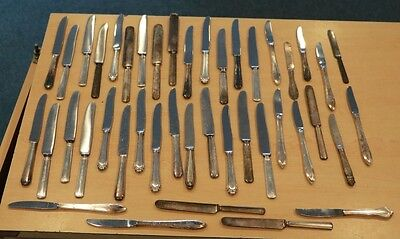 Lot of 43 Flatware Silver Plate Miscellaneous Knives Knife FREE SHIPPING 8