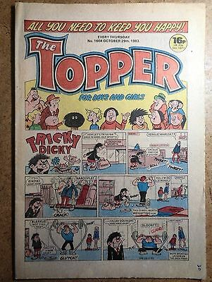 The Topper Comic No.1604 October 29th 1983 Vintage Old British Comics