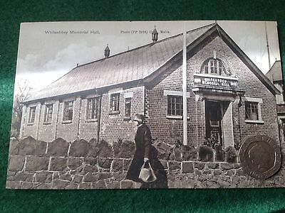 Old Whiteabby Memorial Hall Postcard.