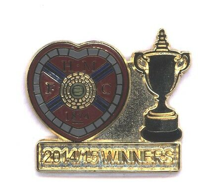 Heart of Midlothian -  Championship Winners 2014/15  - Pin Badge