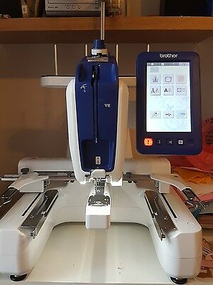 brother vr embroidery machine -used