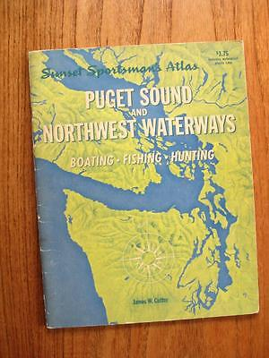 Sunset Sportsman's Atlas PUGET SOUND & Northwest Waterways Boating Fishing Hunt