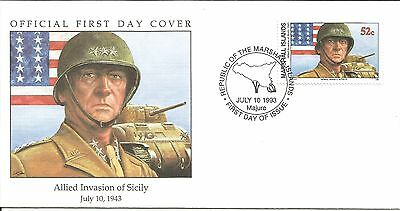 Arcade 99p A Nice Marshall Is 1993 Allied Invasion Of Sicily 1943 FDC