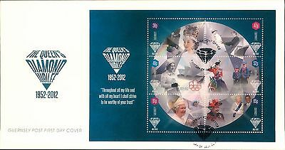 2012 The Diamond Jubilee First Stamp 1St Day Cover Block Stamps