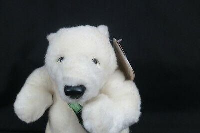 New 1990 9 Coca-Cola Exclusive White Polar Bear Collectible Plush Stuffed Animal