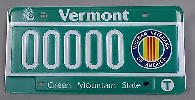 Vermont (VT) Vietnam Veterans of Amer Sample License Plate 00000, Orig. Envelope