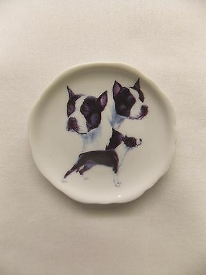 American Staffordshire Terrier Dog 3 View Porcelain Plate Magnet Fired Decal- 50