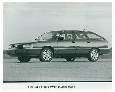 1986 Audi 5000CS Turbo Quattro Wagon Automobile Factory Photo ch4689
