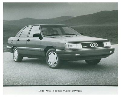 1986 Audi 5000CS Turbo Quattro Automobile Factory Photo ch4687