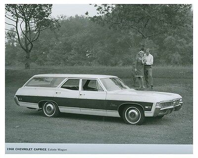 1968 Chevrolet Caprice Estate Wagon Automobile Factory Photo ch4607
