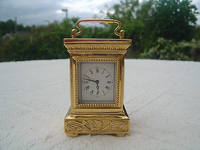 "Franklin Mint Reproduction Antique Empire Carriage Clock - 3"" High / Miniature"