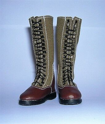 DID Alert Line 1/6th Scale WW2 German Afrika Korps Canvas Boots - 013