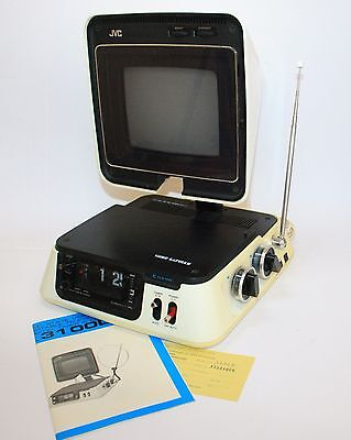 Jvc 3100D Video Capsule Iconic 1971 Clock/television Working Vintage Space Age