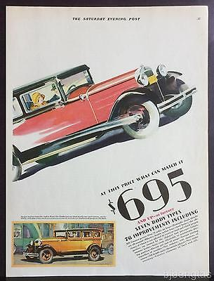 1929 Red Hudson ESSEX Challenger Big Fine Car Now Ready  2-Page Print Ad