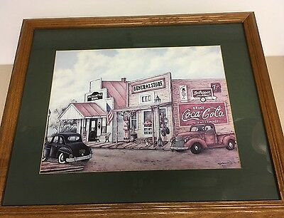 Coca-Cola Coke Sign Framed Print Large 20 x 18 General Store by Kay Lamb Shannon