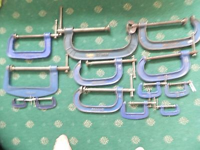Joblot Of 9 Record G Clamps & 4 Others