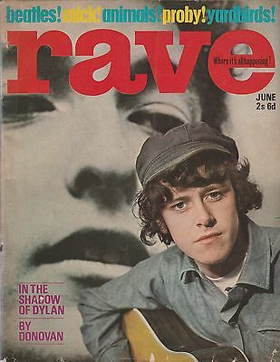 Vintage Rave Magazine June 65  Beatles Stones(Mick Jagger) Etc