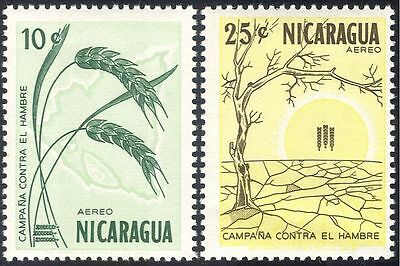 Nicaragua 1963 Freedom From Hunger/FAO/FHH/Wheat/Crops/Tree 2v set (n43321)