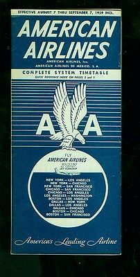 1959 (September 7) American Airlines timetable